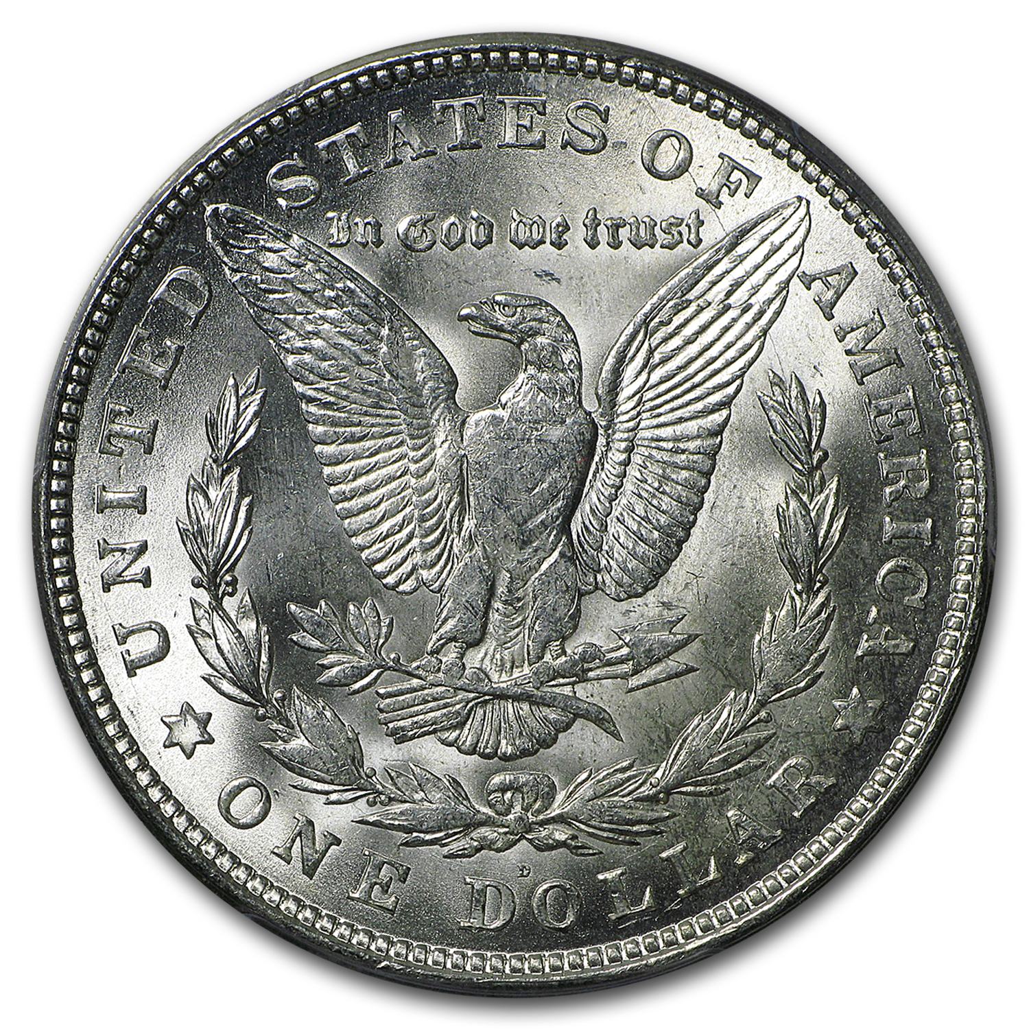 1921-D Brilliant Uncirculated PCGS Stage Coach Silver Dollars